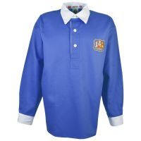 Manchester City 1940s-1950s Retro Football Shirt