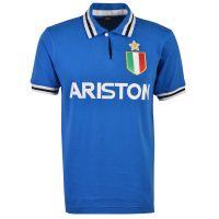 Juventus 1984-85 Blue Ariston Retro Football Shirt