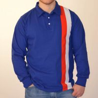 1960s Men's Clothing Escape to Victory Sly Stallone Blue Retro Football Shirt £45.00 AT vintagedancer.com