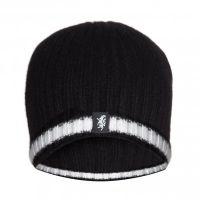 Black & White Cashmere Beanie Hat