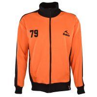 BUKTA Heritage Track Top Orange with Black Panels/Cuffs/W'B