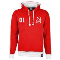 Soviet Union (CCCP) Number 01 Retro Hoodie - Red