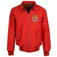 Spain Red Harrington Jacket