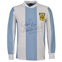 Limited Edition Ossie Ardiles signed Argentina 1978 Shirt