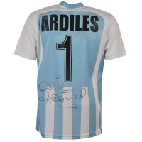 Errea Argentina Number 1 Shirt signed by Ossie Ardiles