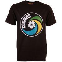New York Cosmos Vintage Logo Black T-Shirt
