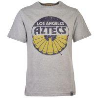 Los Angeles Aztecs Vintage Logo - Grey T-Shirt