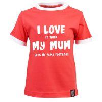 Kids I Love It When Mum - Red/White Ringer