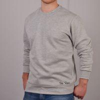 Vintage Style Menswear UK 1920s, 1930s, 1940s, 1950s, 1960s, 1970s Toffs Retro Light Grey Sweatshirt £38.00 AT vintagedancer.com