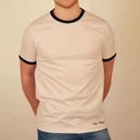 1940s Men's Shirts, Sweaters, Vests Toffs Retro WhiteBlack Tee Shirt £22.00 AT vintagedancer.com
