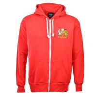 Manchester United Zipped Hoodie - Red