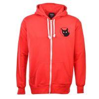 Sunderland Black Cat Zipped Hoodie - Red