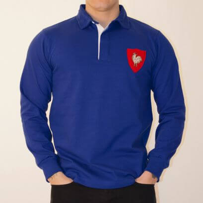 France 1972 Vintage Rugby Shirt - Made to order - Lead Time - 4 weeks