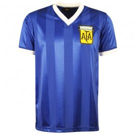Argentina 1986 World Cup Away Retro Football Shirt - Made to order - Lead Time - 4-6 Weeks