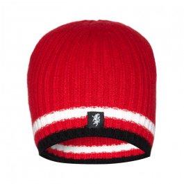 Red/White & Black Cashmere Beanie Hat
