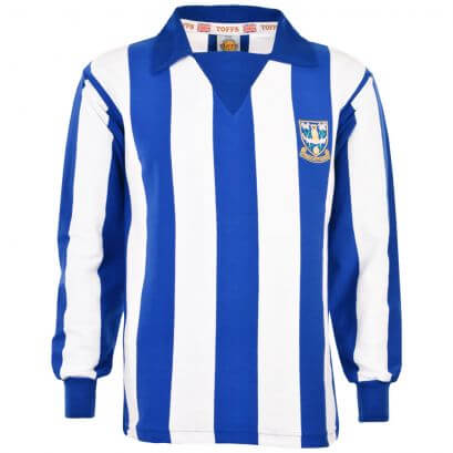 Sheffield Wednesday 1970s Stripe Retro Football Shirt - Made to order - Lead Time - 4 weeks