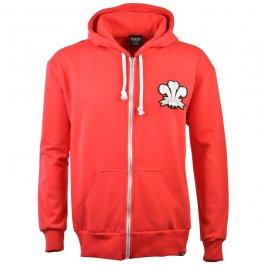 Wales 1905 Vintage Rugby Zipped Hoodie -  Red