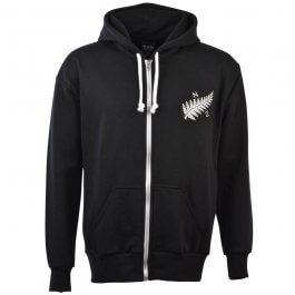 New Zealand 1924 Vintage Rugby Zipped Hoodie -  Black