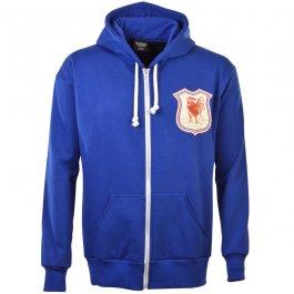 France 1924 Vintage Rugby Zipped Hoodie -  Royal
