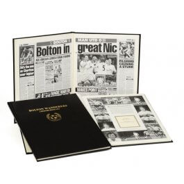 Bolton Wanderers Football Newspaper Book