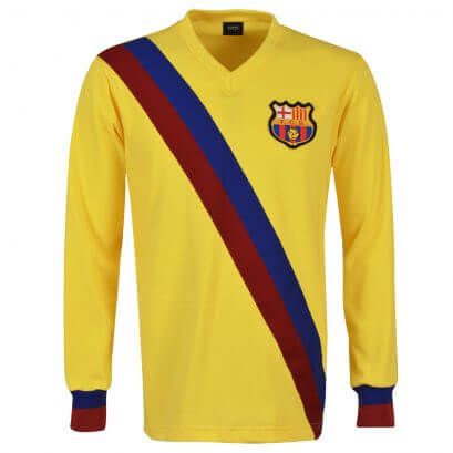 FC Barcelona 1974-75 Away Long Sleeve Retro Football Shirt