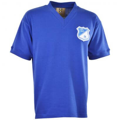 Millonarios 1940s Retro Football Shirt - Made to order - Lead time - 4 Weeks