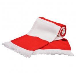 Red & White Bar Scarf