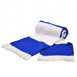 Royal & White Bar Scarf