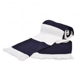 Navy & White Bar Scarf
