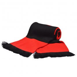 Red & Black Bar Scarf