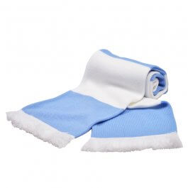 Sky & White Bar Scarf