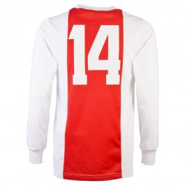 Ajax 1970-73 No 14 Kids Retro Football Shirt
