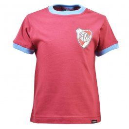 Kids River Plate 12th Man T-Shirt - Maroon/Sky Ringer