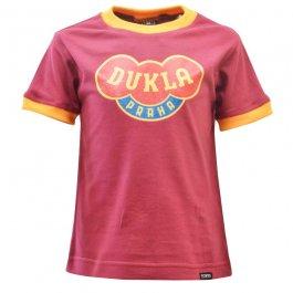 Kids Dukla Prague 12th Man T-Shirt - Maroon/Amber Ringer