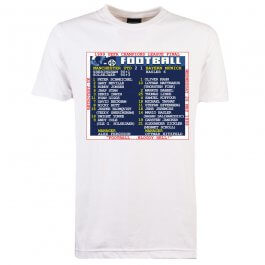 1999 Champions League Final (Man United) Retrotext T-Shirt