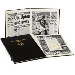 West Ham United Football Newspaper Book - Lead Time - 7 days