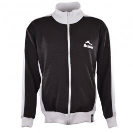 BUKTA  Track Top  Black with White Panels/Cuffs