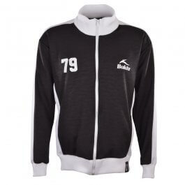 BUKTA  Heritage Track Top Black with White Panels/Cuffs