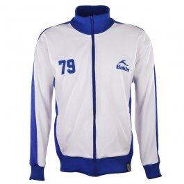 BUKTA  Heritage Track Top White with Royal Panels/Cuffs/W'Ba