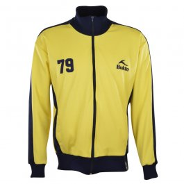 BUKTA  Heritage Track Top Yellow with Navy Panels/Cuffs/W'B