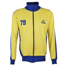 BUKTA  Heritage Track Top Yellow with Royal Panels/Cuffs/W'B