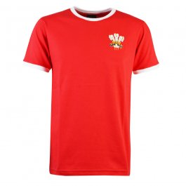 Wales Rugby T-Shirt - Red/White Ringer