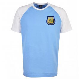 Argentina Raglan Sleeve Sky/White T-Shirt - Made to Order - Lead Time - 4 weeks