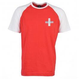 Kids Switzerland Raglan Sleeve Red/White T-Shirt