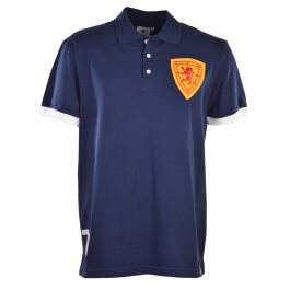 Scotland No 7 Navy Polo Shirt