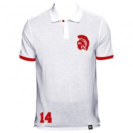 Ajax No 14 White Polo Shirt