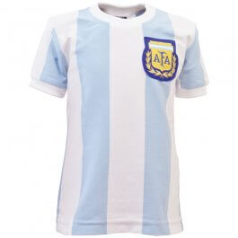 Argentina 1986 World Cup Kids Retro Football Shirt