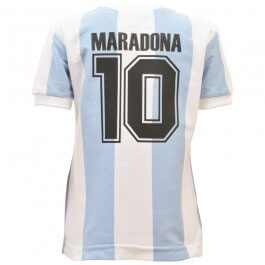 Argentina 1986 World Cup Maradona No.10 Kids Shirt