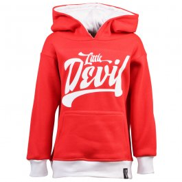 Kids Little Devil Hoodie - Red/White