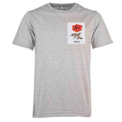 England Rose 1910 Grey T-Shirt